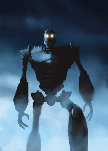 1990's Movie - THE IRON GIANT - MIST WALK canvas print - self adhesive poster - photo print